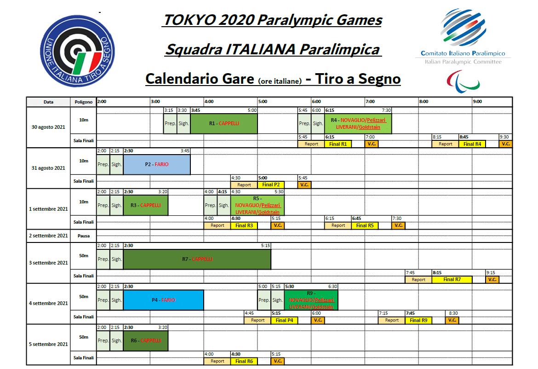 calendario gare tokyo 2020